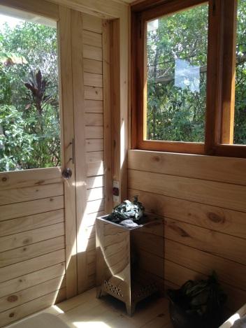 Vista desde el sauna